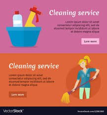 Service Advertisement Cleaning Service Advertisement Cards Set Poster Vector Image