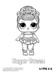 Sugar Queen Coloring Page Lotta Lol Lol Dolls Coloring Pages