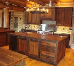 Yellow Pine Kitchen Cabinets Log Cabin Kitchen Cabinets With Yellow Lamp Decor Granite Counter