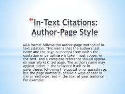 In Text Citations Mla Works Cited Ppt Download