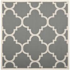 gray indoor outdoor rug image is loading courtyard grey indoor outdoor rug square 4 kulpmont hand