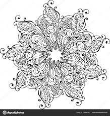 Mandala Da Colorare Antistress Mandala Paisley Monocromatica Di