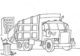 Small Picture Garbage Truck Semi Truck Coloring Page NetArt