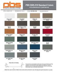 55 Surprising Steel Building Colors Chart