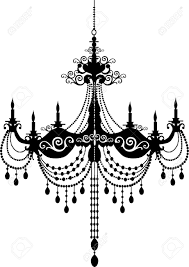 retro chandelier silhouette royalty free cliparts vectors and