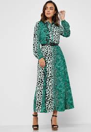 Vila Size Chart Leopard Print Long Sleeve Dress