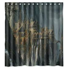 custom fabric shower curtains custom design lord of the rings waterproof fabric shower curtain x inch