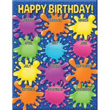 Color My World Birthday Chart
