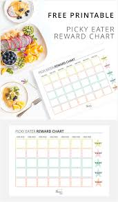 Try New Food Chart Free Printable To Reward Picky Eaters When They Try New