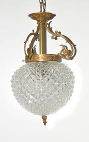 two old crystal lamps ceiling lamp and pineapple lamp