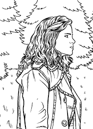 Small Picture Harry Potter Hermione Coloring Pages SelfColoringPagescom