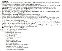 resume it summary of qualifications resume career overview example