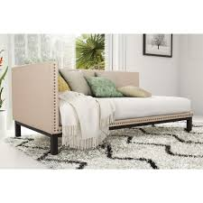 Simple and sophisticated, the Mid-century Upholstered Daybed from Avenue  Greene brings the late