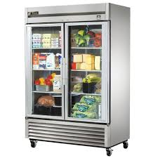 Glass Refrigerator True Ts 49g Ld 54 Stainless Steel Two Section Glass Door Reach In