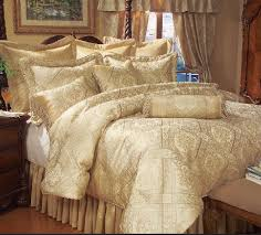 9 piece queen gold imperial comforter set