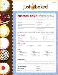 Template: Cake Order Form Template Ball Templates Free Bakery ...