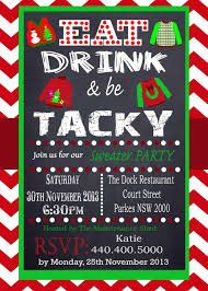 sweater invitation tacky sweater party invitation chevron red chalkboard uly sweater offfice party printable personalized christmas invitation