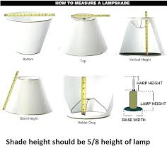 how do you measure a lamp shade floor lamp shade size and lamps ideas us 0