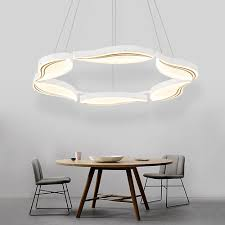 chair surprising modern led chandelier 17 hghomeart led classic acrylic round lighting suspension for living room