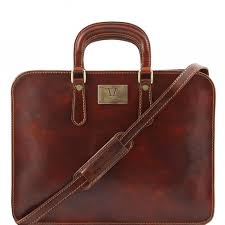 tuscany leather alba women s leather briefcase 1 compartment brown tl140961 1