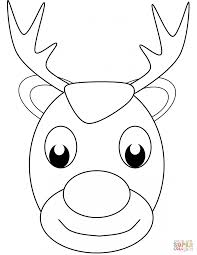 Small Picture Coloring Pages Christmas Reindeer Face Coloring Page Free