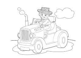Kleurplaat Tractor Graafmachines En Trekkers Tijd Met Kinderen