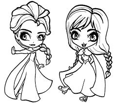 Kleurplaten Disney Frozen Elsa