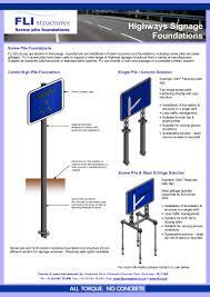 Traffic Sign Foundation Design Highways Signage Foundations