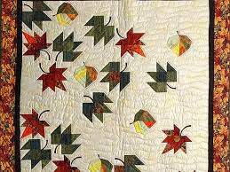 Autumn Leaves Quilt -- exquisite smartly made Amish Quilts from ... & ... Maple Red and Green Autumn Leaves Throw Photo 2 ... Adamdwight.com