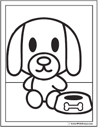 Coloring page outline of cartoon dog with a kite. 35 Dog Coloring Pages Breeds Bones And Dog Houses