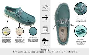 Hey Dude Shoes Size Chart Hey Dude Mens Wally Washed Loafer