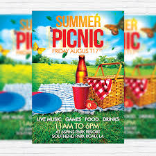 Picnic Flyers Summer Picnic Premium Flyer Template Facebook Cover Picnic Flyer