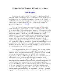 Explaining Gaps In Resume Example Letter Explanation Job Gap