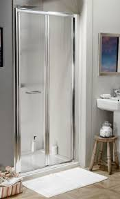clear shower doors. eco bi fold 760mm shower door silver frame with clear glass doors