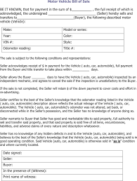 Vehicle Sale As Is Form Free Illinois Motor Vehicle Bill Of Sale Form Pdf 34kb