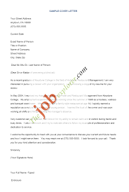 Sample Cover Letter Resume Free Resumes Tips