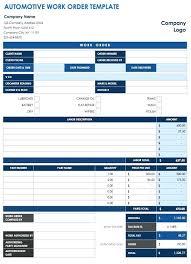 Work Order Sheet Template Printable Work Order Sheets Maintenance