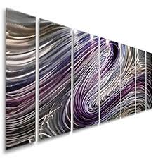 purple large metal wall art contemporary wall painting abstract hand painted metallic wall on large metal sculpture wall art with amazon purple large metal wall art contemporary wall painting