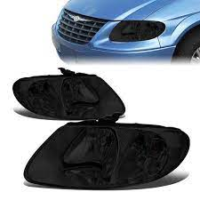 01 07 Dodge Grand Caravan Chrysler Town Country Voyager Headlights Smoked Housig Clear Corner Chrysler Town And Country Grand Caravan Chrysler