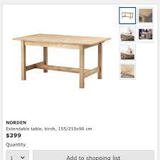 ikea norden extendable table furniture