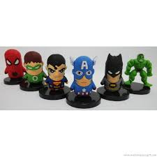 Super Heroes Cake Topper Superman Captain America Hulk Batman