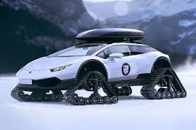 most expensive lamborghini 2017. this lamborghini huracan snowmobile is the most luxurious snow travelling vehicle there expensive 2017 h