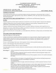 Automobile Mechanic Job Description With Cover Letter Diesel