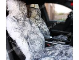 premium quality nz long wool sheepskin car seat cover sliver tip