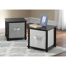 mainstays no tools single cube storage shelf side tables set of 2 com