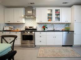 contemporary kitchen tile backsplash ideas. amusing design of the blue tile backsplash ideas with white cabinets and refrigerator contemporary kitchen