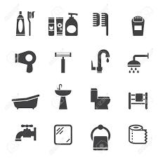 Bathroom Door Icon Wc Toilet Door Plate Icons Set Men And