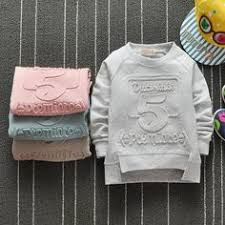 The <b>new children</b> roundneck <b>Cotton</b> Terry spell color all-match ...