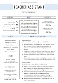 Teacher Assistant Resume Sample Writing Tips Resume Genius