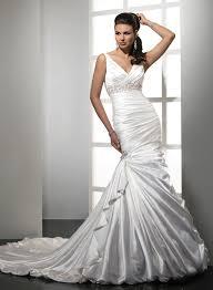 Satin Ruched Mermaid Wedding Dress